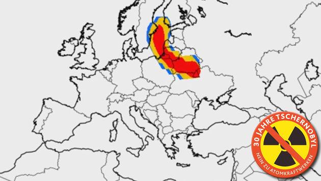 So kam die Todeswolke 1986 über Österreich (Bild: YouTube.com, Kronen Zeitung)