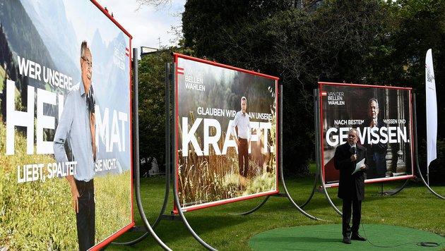 SPÖ ließ Stichwahl-Plakate drucken - um 60.000 € (Bild: APA/HELMUT FOHRINGER)