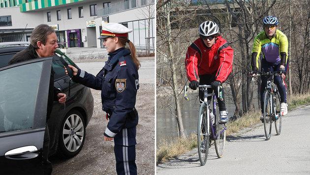 Debatte um Promillegrenze bei Auto- und Radfahrern (Bild: Markus Tschepp, Peter Tomschi)