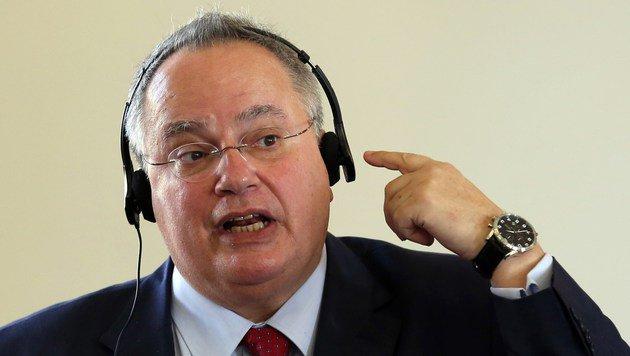Griechenlands Außenminister Nikos Kotzias (Bild: APA/AFP/ATTA KENARE)