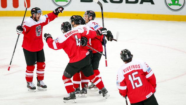 Österreichs Eishockey-Team besiegt Italien mit 4:2 (Bild: GEPA)