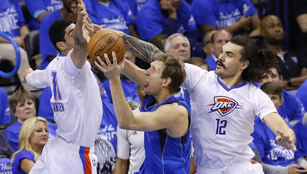 Oklahoma wirft Nowitzki & Dallas aus NBA-Play-off (Bild: AP)