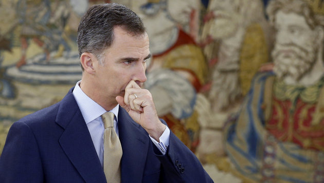 König Felipe VI. hat die Auflösung des Parlaments eingeleitet. (Bild: APA/AFP/POOL/ANGEL DIAZ)