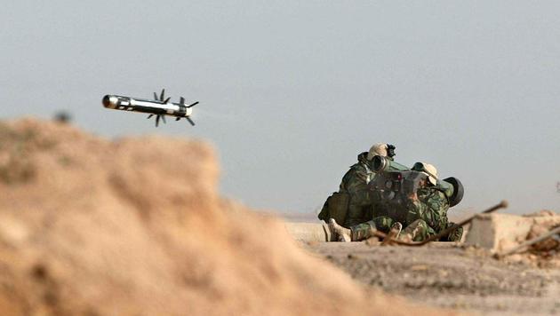 """US-Soldaten setzten die """"Javelin""""-Panzerabwehrrakete auch im Irak (2003) ein. (Bild: SIMON WALKER/AFP/picturedesk.com)"""