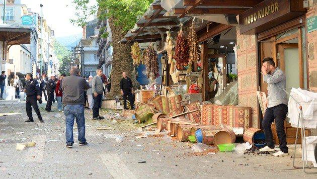 T�rkei: Attent�terin sprengte sich in die Luft (Bild: APA/AFP/Onur Yurtsever)