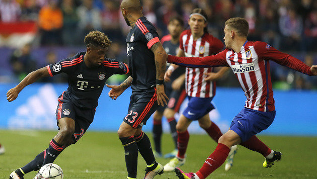 Bayern stürmt, Alaba hämmert - Atletico jubelt (Bild: AP)