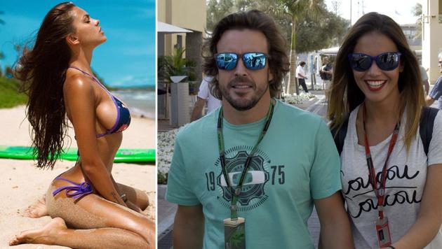 "Fernando Alonso hofft auf sexy ""Fan"" in Sotschi (Bild: AFP, facebook.com)"