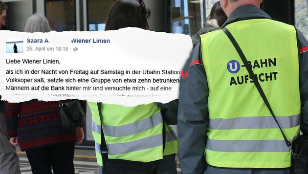 Saara A. bedankte sich via Facebook für die Hilfe der U-Bahn-Aufsicht. (Bild: Peter Tomschi, Facebook.com/Wiener Linien)