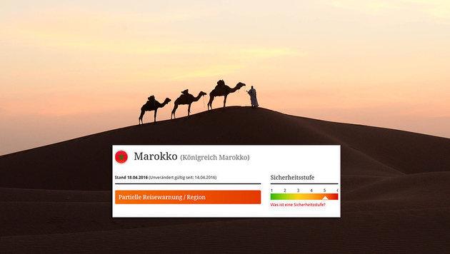 Reisewarnstufe f�r Marokko erh�ht (Bild: FADEL SENNA/AFP/picturedesk.com, BMEIA)