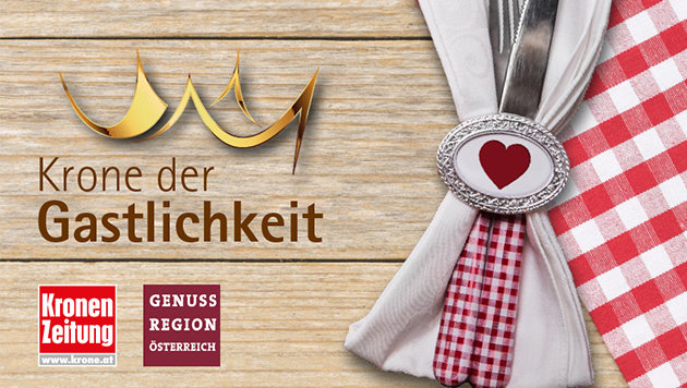 Wir suchen den besten GenussWirt Ihrer Region! (Bild: Kronen Zeitung, Genussregion Österreich)