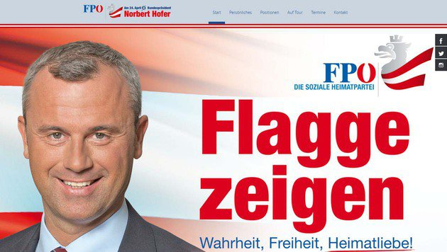 Die Website von Norbert Hofer (Bild: norberthofer.at)
