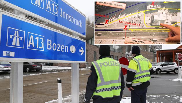 Am Brenner könnten Grenzkontrollen jederzeit hochgefahren werden. (Bild: Christof Birbaumer)