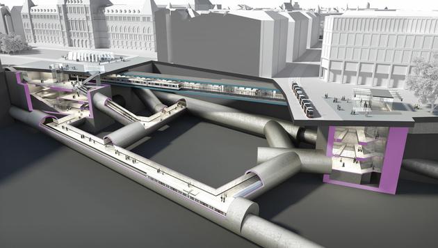 So wird die Station Rathaus unterirdisch angelegt. (Bild: APA/STADT WIEN)