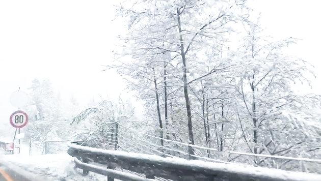 Schneefälle halten Einsatzkräfte im Süden auf Trab (Bild: Bereichsfeuerwehrverband Deutschlandsberg)