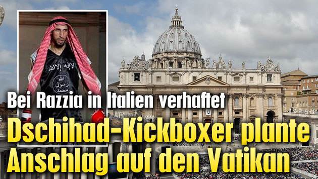 Dschihad-Kickboxer plante Anschlag auf den Vatikan (Bild: Polizia di Stato, ASSOCIATED PRESS)
