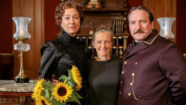 Ursula Strauss, ORF-Kathi Zechner, Robert Palfrader (Bild: ORF)