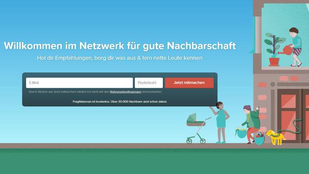 "Grätzelportal ""Frag nebenan"" geht nach nebenan (Bild: fragnebenan.com)"