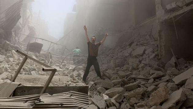 Syrien: Dutzende Tote bei Luftangriff auf Spital (Bild: APA/AFP/AMEER ALHALBI)