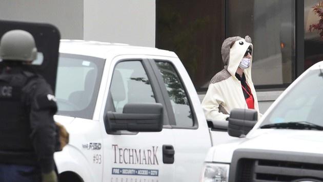 USA: Polizei schießt Mann in Pandakostüm nieder (Bild: AP)