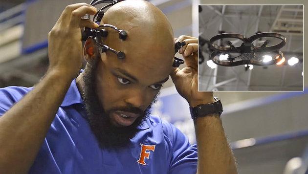 Uni veranstaltete Drohnenrennen mit Hirnsteuerung (Bild: University of Florida)