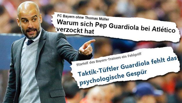 """Verzockt!"" Guardiola nach Pleite am Pranger (Bild: ASSOCIATED PRESS, focus.de, kicker.de)"