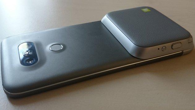 LG G5: Modul-Smartphone für Weitwinkel-Knipser (Bild: Dominik Erlinger)