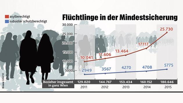 """""""5682 € Sozialhilfe - ein völlig falsches Signal!"""" (Bild: """"Krone""""-Grafik)"""