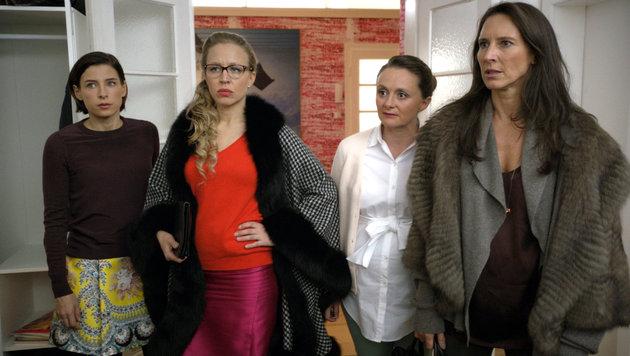 Martina Ebm (Caro), Nina Proll (Nicoletta), Gerti Drassl (Maria) und Maria Köstlinger (Wally) (Bild: ORF)