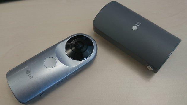 LG 360 Cam: 360-Grad-Kamera für das Smartphone (Bild: Dominik Erlinger)
