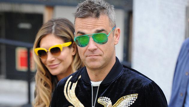 Robbie Williams mit Ehefrau Ayda (Bild: Viennareport)