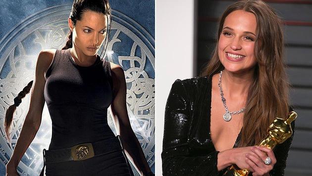 "Alicia Vikander beerbt Angelina Jolie als Lara Croft in ""Tomb Raider"". (Bild: Viennareport, APA/AFP/ADRIAN SANCHEZ-GONZALEZ)"