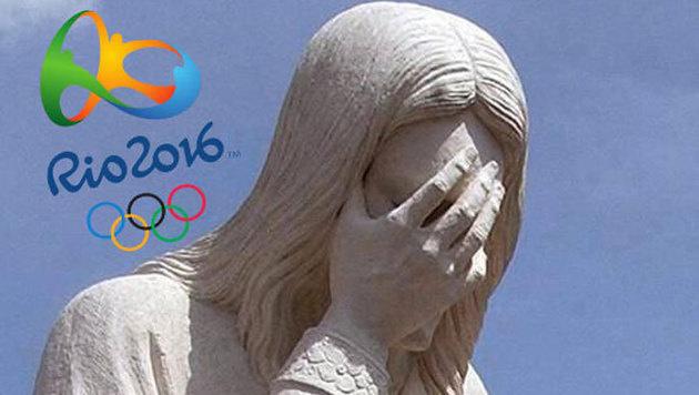 100 Tage vor Olympia: Christus weint �ber Rio (Bild: Kronen Zeitung)