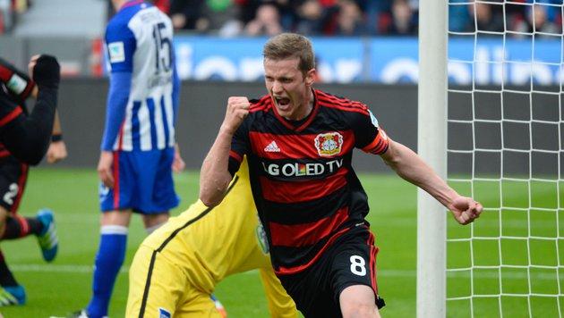 2:1-Erfolg! Leverkusen erneut in Champions League (Bild: APA/AFP/ROBERTO PFEIL)