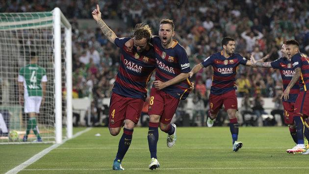 Barcelona wehrt Angriffe von Real und Atletico ab (Bild: ASSOCIATED PRESS)