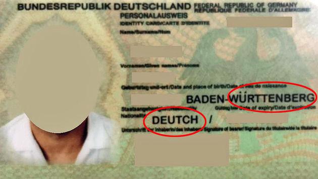 Ausweis mit Tippfehler überführt Einbrecher-Duo (Bild: APA/LPD WIEN)