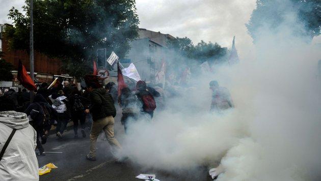 1. Mai: Istanbuls Polizei schlägt Demos nieder (Bild: AFP or licensors)
