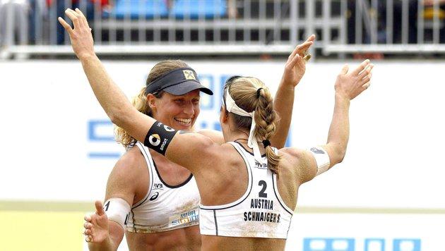 Beach-Girls Schwaiger/Hansel nun ohne Coach (Bild: APA/FIVB)