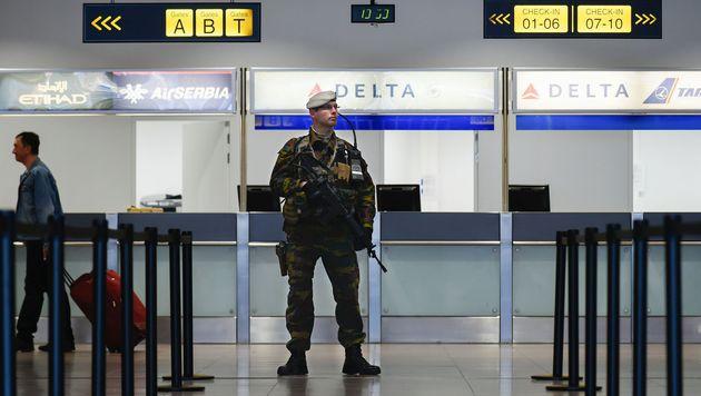 Brüssel: Abflughalle nach Terror wiedereröffnet (Bild: APA/AFP/JOHN THYS)