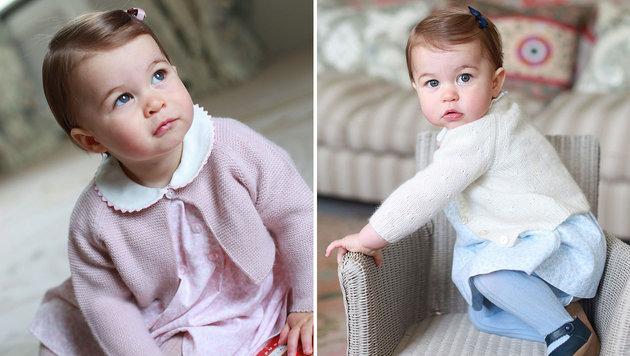So herzig: Prinzessin Charlotte wird ein Jahr alt (Bild: APA/AFP/KENSINGTON PALACE/THE DUCHESS OF CAMBRIDGE)