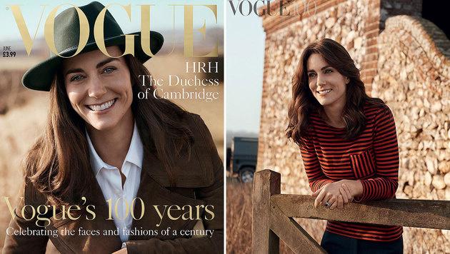 """Herzogin Kate auf dem Cover der britischen """"Vogue"""" (Bild: vogue.co.uk/Josh Olins)"""