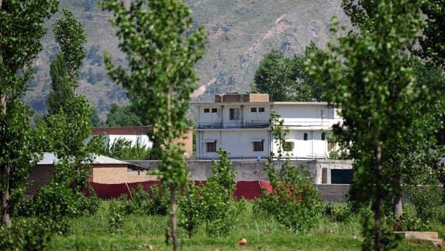 In diesem Anwesen im pakistanischen Abbottabad wurde Osama Bin Laden von der US-Armee aufgesp�rt. (Bild: APA/AFP/Farooq Naeem)