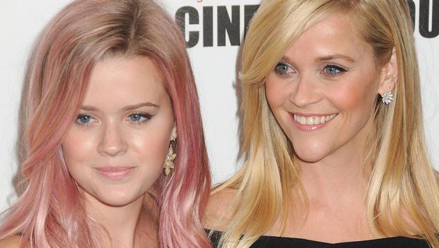Reese Witherspoon mit Tochter Ava (Bild: Viennareport)
