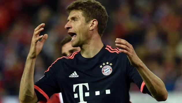 Verzagt: Bayern-Ass Thomas Müller (Bild: APA/AFP/GERARD JULIEN)