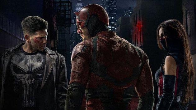 Punisher, Daredevil und Elektra (Bild: Marvel.com)
