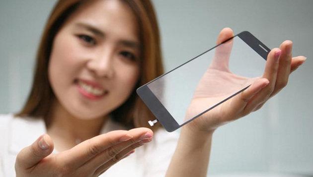 LG integriert Handy-Fingerscanner ins Display-Glas (Bild: LG)