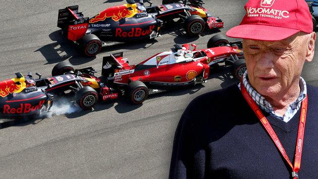 "Nach Vettel-Crash: Lauda ""würde Kwjat umbringen"" (Bild: GEPA)"