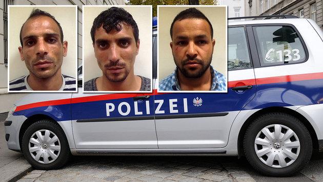 Räuber-Trio in Haft: Polizei sucht weitere Opfer (Bild: LPD WIEN, Andreas Graf)