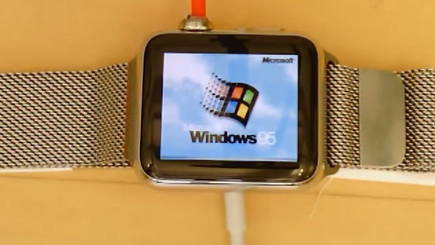 Tüftler lässt Windows 95 auf Apple Watch laufen (Bild: YouTube.com/Nick Lee)