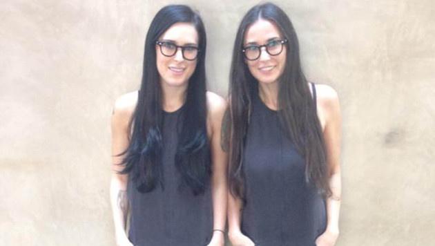 Rumer Willis und Demi Moore schauen aus wie Zwillinge. (Bild: Viennareport)