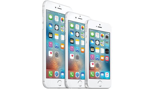iPhone 6S Plus, 6S und SE im Größenvergleich (Bild: Apple)